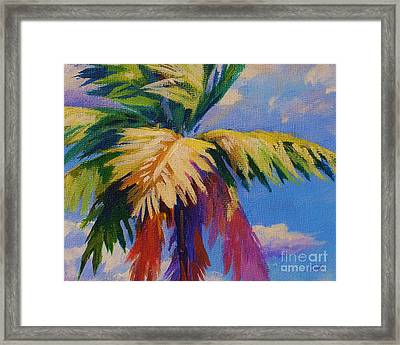 Colorful Palm Framed Print by John Clark