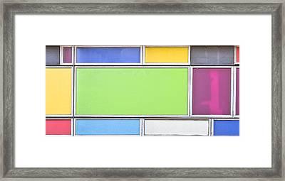 Colorful Panels Framed Print