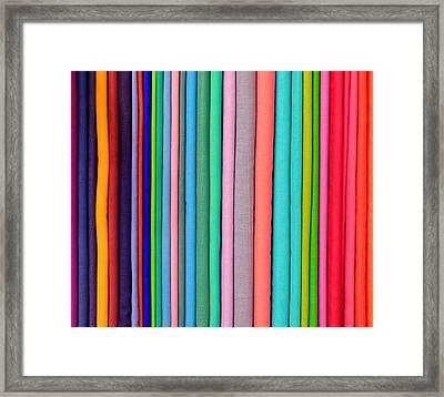 Colorful Pashminas Framed Print