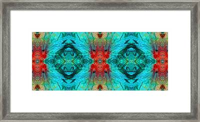 Colorful Patterns - Life Circles - By Sharon Cummings Framed Print