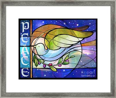 Colorful Peace Dove Framed Print
