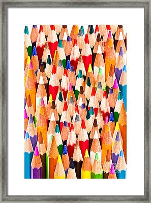 Colorful Pencils Framed Print by IB Photo