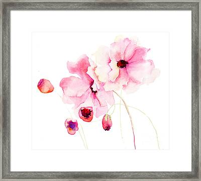 Colorful Pink Flowers Framed Print