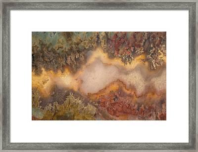 Colorful Plume Agate Framed Print by Leland D Howard
