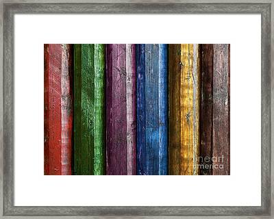 Colorful Poles  Framed Print by Carlos Caetano