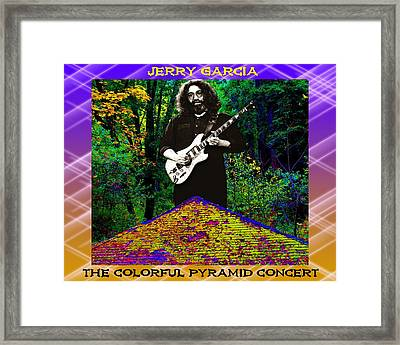 Framed Print featuring the photograph Colorful Pyramid Concert by Ben Upham