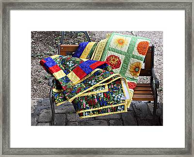 Colorful Quilts Framed Print