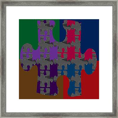 Colorful Quiz Maize Game  Background Designs  And Color Tones N Color Shades Available For Download  Framed Print