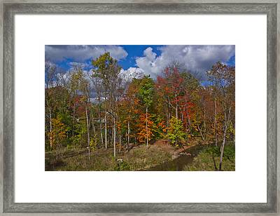 Colorful Ravine A Wider Angle Framed Print
