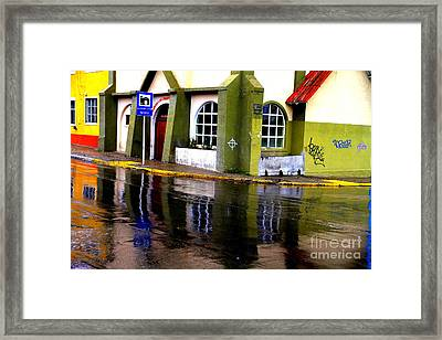 Colorful Reflection Framed Print