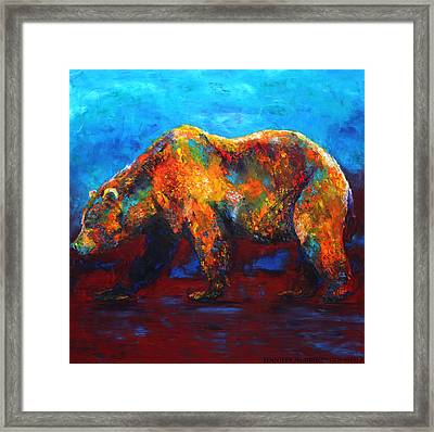 Colorful Reflections Bear Painting Framed Print