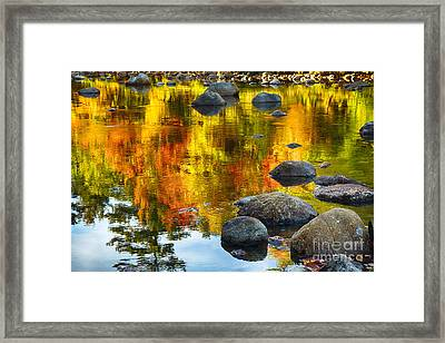Colorful Reflections In A Creek Framed Print