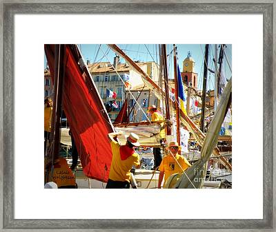 Colorful Regatta Framed Print by Lainie Wrightson