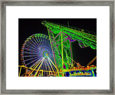 Colorful Rides Framed Print by Thomas  MacPherson Jr