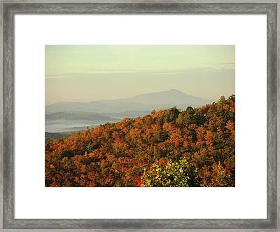 Colorful Ridge Framed Print by Michael Gooch