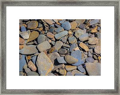 Colorful River Rocks Framed Print by Photographic Arts And Design Studio