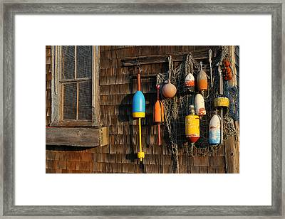 Colorful Rockport Buoys  Framed Print by Juergen Roth