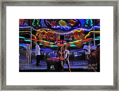 Colorful Rok And Roll Framed Print by Kaye Menner
