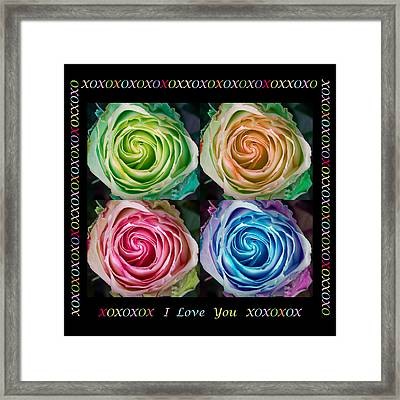 Colorful Rose Spirals With Love Framed Print by James BO  Insogna
