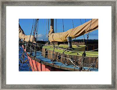 Colorful Sailboat Framed Print