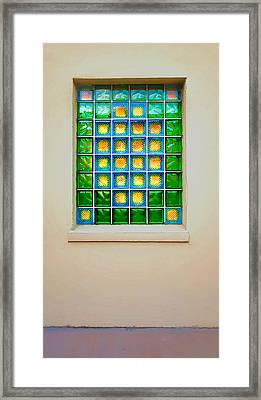 Colorful Savannah Window Framed Print