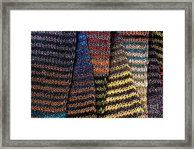 Framed Print featuring the photograph Colorful Scarves by Les Palenik