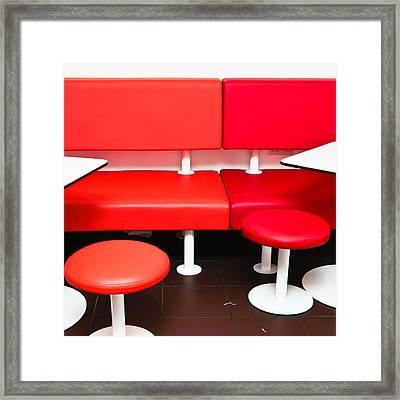 Colorful Seats Framed Print