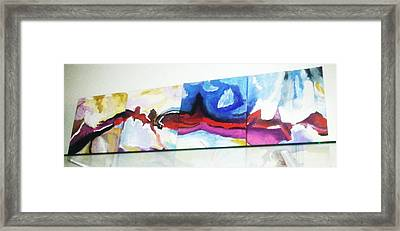 Colorful Sequence Framed Print by Vickie Meza
