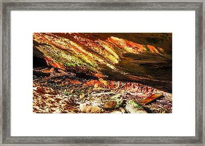 Colorful Shades Of Light And Texture  Framed Print by Optical Playground By MP Ray
