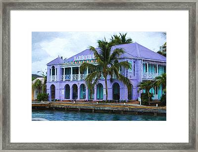 Colorful Shopping Experience On Tortola British Virgin Islands Bvi Framed Print