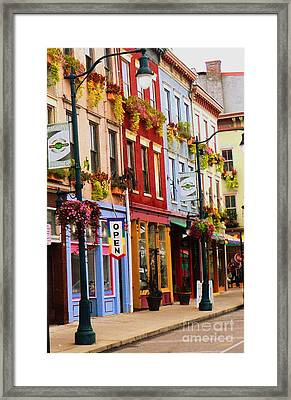 Colorful Shops Framed Print by Jennifer Kelly