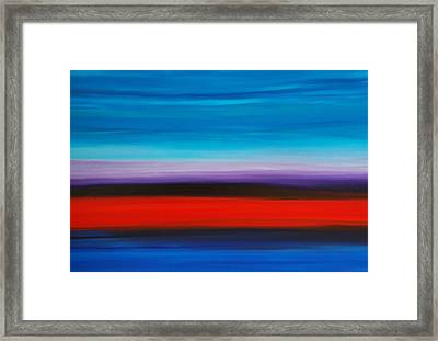 Colorful Shore - Abstract Art By Sharon Cummings Framed Print