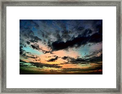 Colorful Sky. Framed Print by Siti  Syuhada
