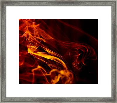 Colorful Smoke Trails Framed Print