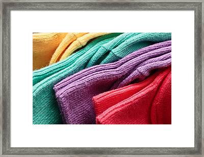 Colorful Socks Framed Print by Tom Gowanlock