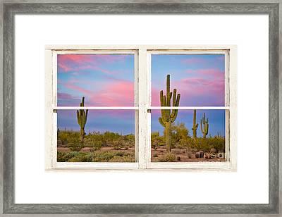 Colorful Southwest Desert Window Art View Framed Print