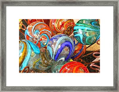 Colorful Spheres Framed Print