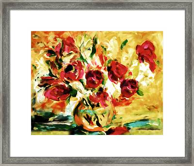 Colorful Spring Bouquet - Abstract  Framed Print by Georgiana Romanovna