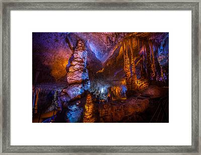 Colorful Stalactite Cave Framed Print