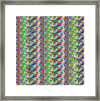 Framed Print featuring the photograph Colorful Star Graphics Decorations by Navin Joshi