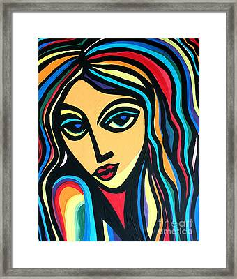 Colorful Stare Framed Print