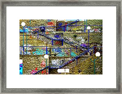 Colorful Steps Framed Print