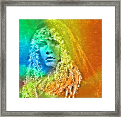 Colorful Stevie Nicks Framed Print by Dan Sproul