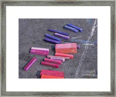 Colorful Street Chalk Framed Print by Juli Scalzi