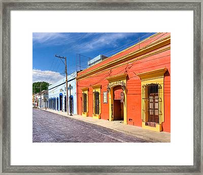 Colorful Streets Of Colonial Oaxaca Framed Print