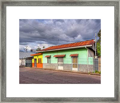 Colorful Streets Of Costa Rica - Liberia Framed Print