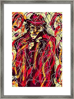 Colorful Suit Framed Print by Rachel Scott