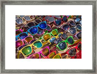Colorful Sunglasses Framed Print by Iris Richardson