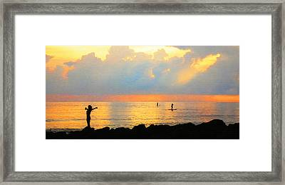Colorful Sunset Art - Embracing Life - By Sharon Cummings Framed Print by Sharon Cummings