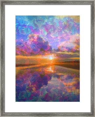 Colorful Sunset By Jan Marvin Framed Print